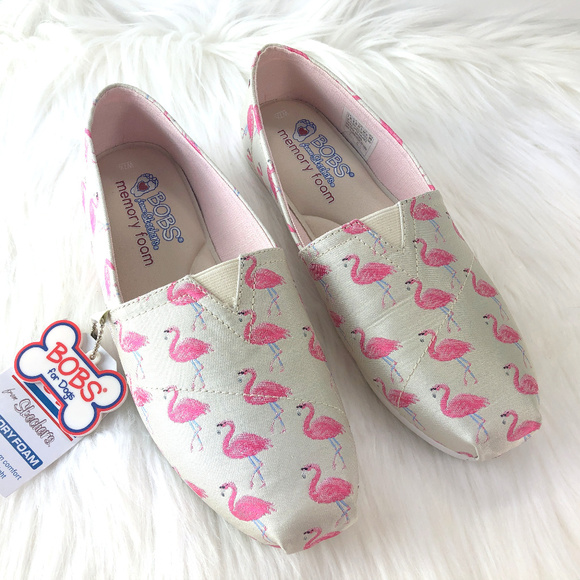 Bobs Skechers Flamingo Fest Plush Slip